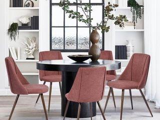 Carson Carrington Mid Century Modern Velvet Fabric Dining Chair Rose  Set of 2  Retail 175 74
