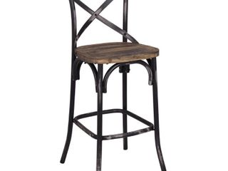The Gray Barn Hidden Hill Antique Wood and Steel Barstool Retail 116 99