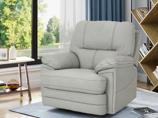 Christopher Knight Home Elodie Bubba PU Faux leather Swivel Power Recliner   Retail 571 99
