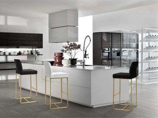 Denmark White Gold Steel Counter Stool  Set of 2  Retail 369 99