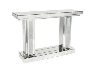 Modern 48 inch Mirrored Wooden Console Table by Studio 350  BOX CONTAINS lEGS ONlY  Retail 632 99