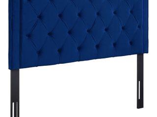 Nacht Navy Velvet Headboard  Retail 273 99