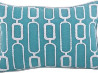 Modernica Stitched Down Filled Throw Pillow 12 x 18 Blue  Retail 24 08