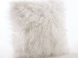 Mongolian Faux Fur Throw Pillow Retail   36 34