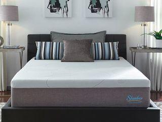 Slumber Solutions 14 inch Gel Memory Foam Choose Your Comfort Mattress Queen White  Retail 525 49