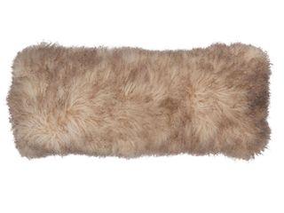 Poly Filled Mongolian lamb Throw Pillow  Retail 183 49