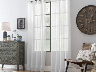 Archaeo Slub Textured linen Blend Grommet Top Curtain  Retail  21 49 Per Panel