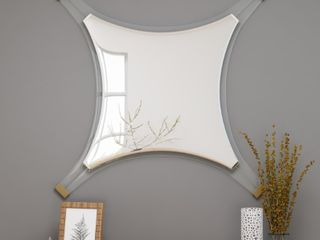 Bellevue Decorative Accent Mirror with Acrylic Trim and Accents by Christopher Knight Home   Retail 155 99