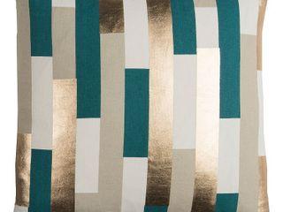 Rachel Kate by Rizzy Home Green Stripe Cotton Casement Decorative Throw Pillow Retail   49 99