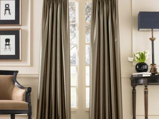 Marquee Faux Silk Pinch Pleat Curtain One Panel Retail   20 56 Per Panel