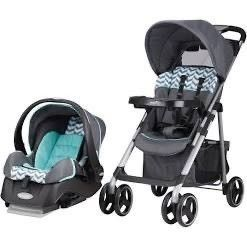 Vive Travel System with Embrace Infant Car Seat  Spearmint Spree