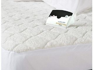 Biddeford 5200 505122 100M Quilted Electric Heated Mattress Pad Twin   White