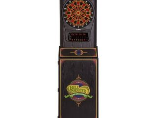 Arachnid Cricket Pro 650 Standing Electronic Dartboard with 24 Games  132 Variations  and 6 Soft Tip Darts Included