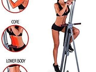 Maxi Climber The Original Patented Vertical Climber  As Seen On TV   Full Body Workout  Black   Silver