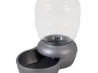 Petmate Replendish Dog and Cat Feeder  Silver  2 5 Gal