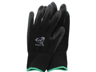 Global Glove PUG Work Glove PUG17M Poly Nylon Glove  Work  Medium  Black 12 Pair