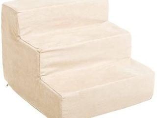 PETMAKER High Density Foam 3 Tier Pet Steps   Tan