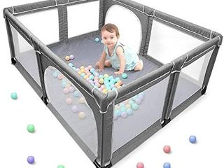 Yobest Baby Playpen  Extra large Play Yard  Indoor   Outdoor Kids Activity Center with Gate  Play Pen Baby Care  Big Safety Sturdiness Babys Fences for Babies  Infant  Toddler  Childs