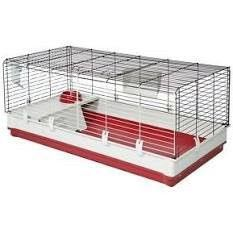 MidWest Homes for Pets 158 Wabbitat Deluxe Rabbit Home  Rabbit Cage  39 5 l x 23 75 W x 19 75 H inch