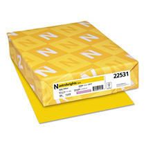 Neenah Paper Astrobrights Colored Paper  24 lb   Yellow  500 Sheets Per Ream