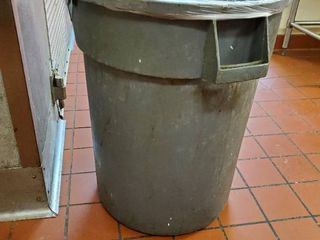 Gray Trashcan