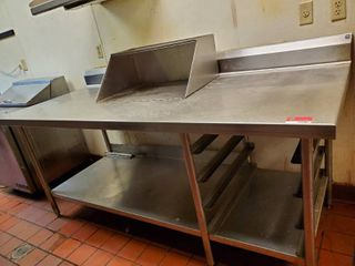 7ft Stainless Steel Table