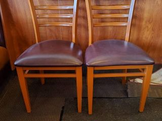 2  Metal Frame Dining Chairs