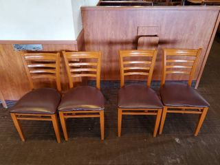 4  Metal Framed Dining Chairs
