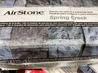 AirStone Spring Creek 6 lin ft Outside Corner Finished End Stone Veneer Trim