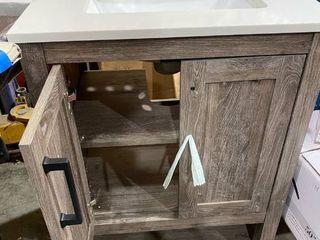 Barnwood single sink 25 inch bathroom vanity