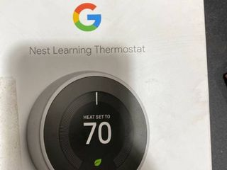 Google   Nest learning Smart Wifi Thermostat   Stainless Steel