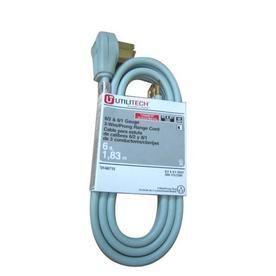 Utilitech 6 ft 6 AWG Gray SRDT Power Cord