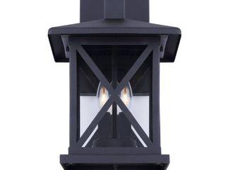 CANARM Elm 3 light Black Outdoor Wall light Sconce