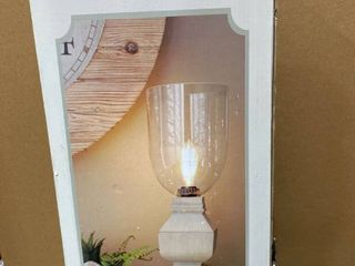 Gather Home 20 In Farmhouse Rustic Uplight Table lamp With Glass Shade free Ship