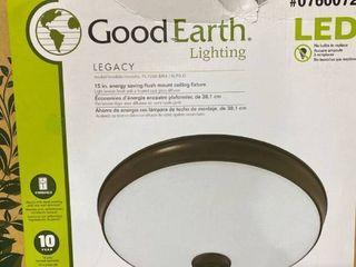 Good Earth lighting Fl1059 BR4 15lF0 G legacy 15 inch lED Flush Mount light  Bronze  15 Inch