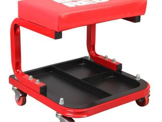 Torin Rolling Creeper Garage Shop Mechanic Padded Seat Stool with Tool Tray  Red  Retail  48 99