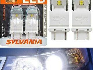 Sylvania Zevo 4157 Amber lED Bright Interior Exterior Mini light Bulb  2 Pack  Retail  19 75