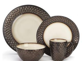 Cuisinart CDST1 S4G1 Anais Collection Stoneware 16 Piece Dinnerware Set  Bronze  Retail  118 99   READ