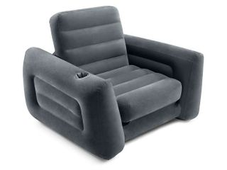 Intex Inflatable Pull Out Sofa Chair Sleeper with Twin Sized Air Bed Mattress  Retail  104 99