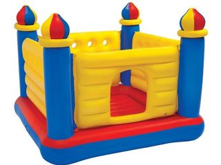 Intex Inflatable Colorful Jump O lene Kids Ball Pit Castle Bouncer for Ages 3 6  Retail  97 99