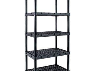 Gracious living Knect A Shelf Heavy Duty Ventilated Storage 5 Tier Shelving Unit  Retail  132 99