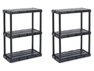 Gracious living Knect A Shelf light Duty Fixed Storage 10 Shelf Shelving Unit  Est  Retail  159 96