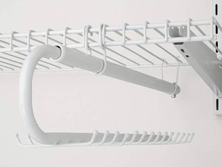 Rubbermaid FG3H9803WHT Configurations Accessories Tie and Belt Valet  White  Retail  23 99