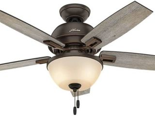 Hunter Fan Company 53342 Donegan low Profile 52 Inch Ceiling Fan  Onyx Bengal  Retail  179 99