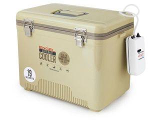 Engel 19 Quart Insulated live Bait Fishing Dry Box Cooler  Tan  Retail  139 99   READ