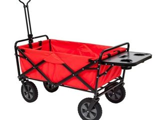 Mac Sports Collapsible Folding Outdoor Garden Utility Wagon Cart w  Table  Red  Retail  179 99