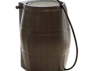 FCMP Outdoor RC4000 BRN 45 Gallon BPA Free Home Rain Water Catcher Barrel  Brown  Retail 130 99