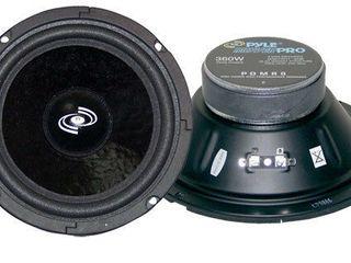 Pyle Pro 8 Inch 360 Watt 8 Ohm Black Driver Mid Range Audio Speaker   PDMR8  Retail  68 99