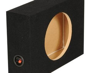QPower Shallow Single 10  Sealed Truck Subwoofer Box  18 25 x 14 5 x 5 25 Inch  Retail  59 99