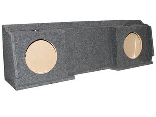 QPower GMC Chevy Silverado Ext Cab  99 06 Dual Underseat Two 10  Subwoofer Box  Retail  113 99